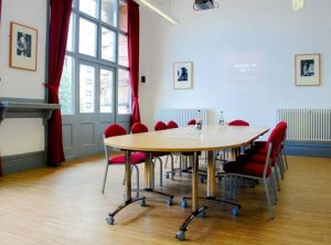 The conference room, based at East Street, can accommodate up to 30 people within the bright room with wifi, projector, and TV facilities