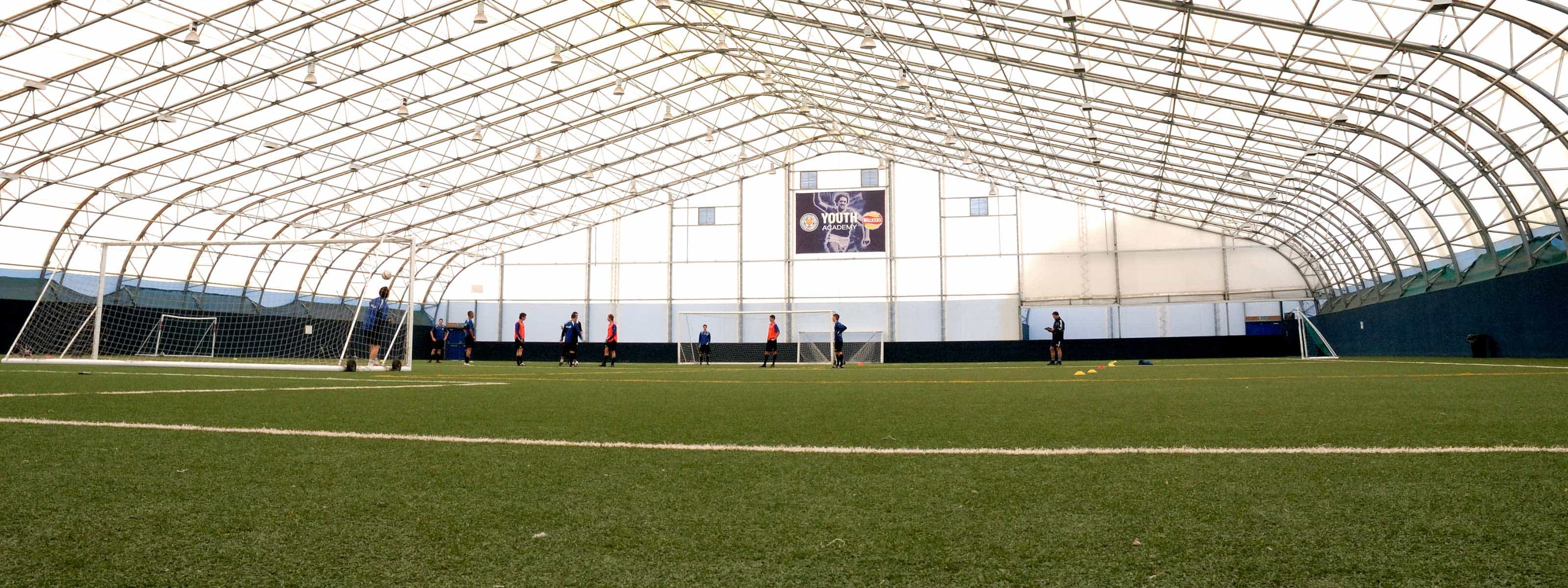 The Y shared use of Leicester City Football pitch is available to hire. The dome is an indoor pitch.