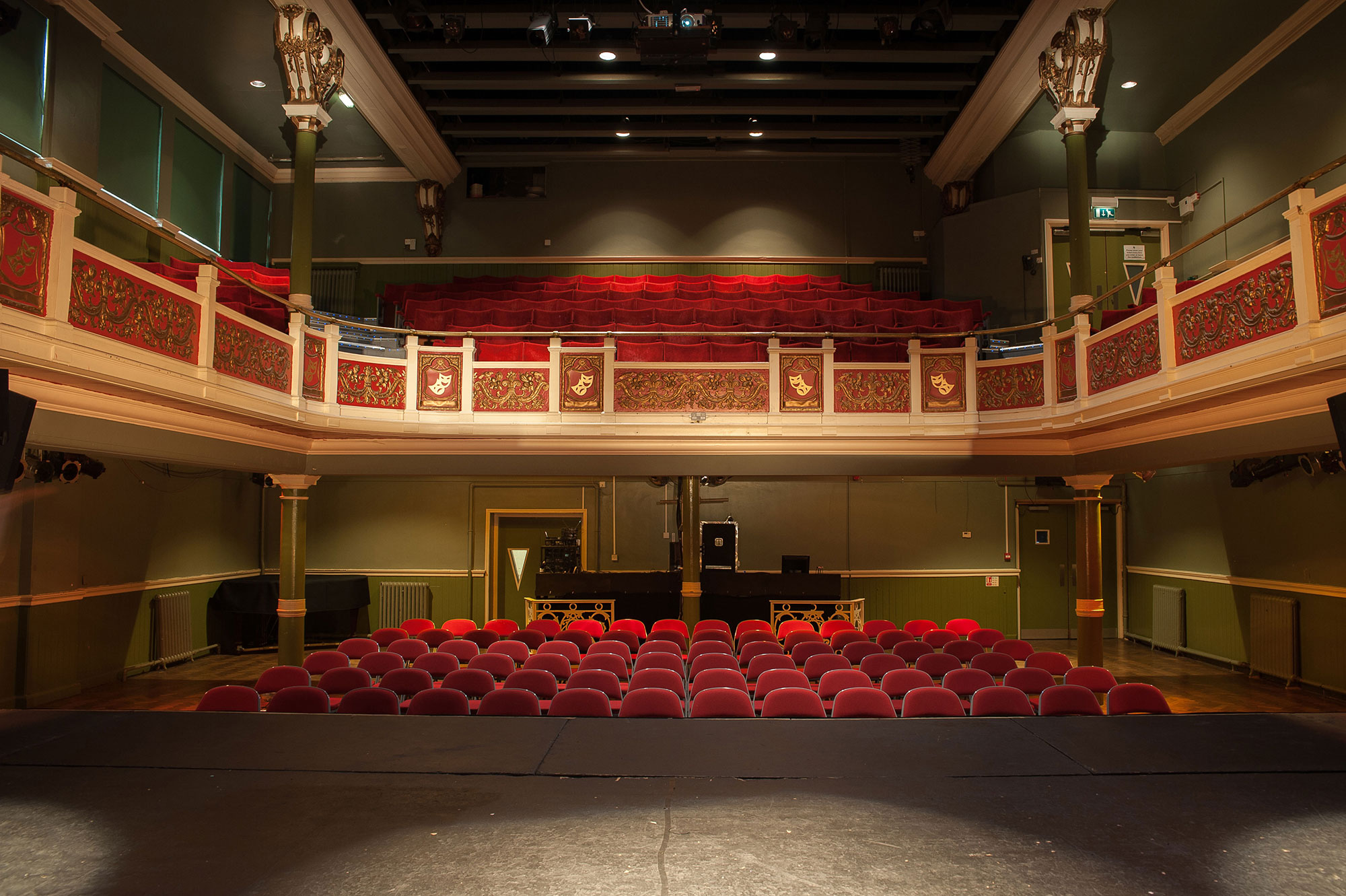 The Y Theatre is available to hire and seats 300.