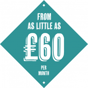 From as little as £60 per month
